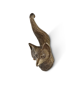 ATT - Single Wall Hook/Brass Fox, 6""