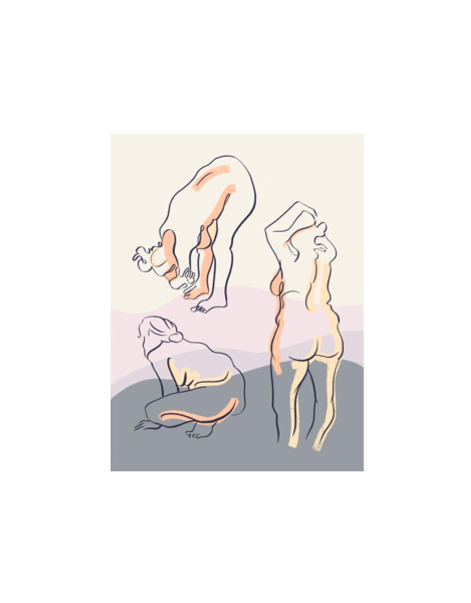 "Little Brummie - Art Print/Yoga 5 x 7"""