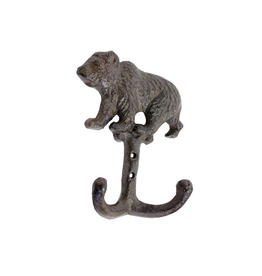 FRS - Double Wall Hook/Grizzly, Brown Cast Iron, 6""