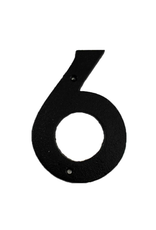 """FRS - House Number 6/Brown Cast Iron, 6"""""""