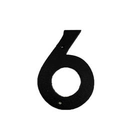 """FRS - House Number 6 / Brown Cast Iron, 6"""""""