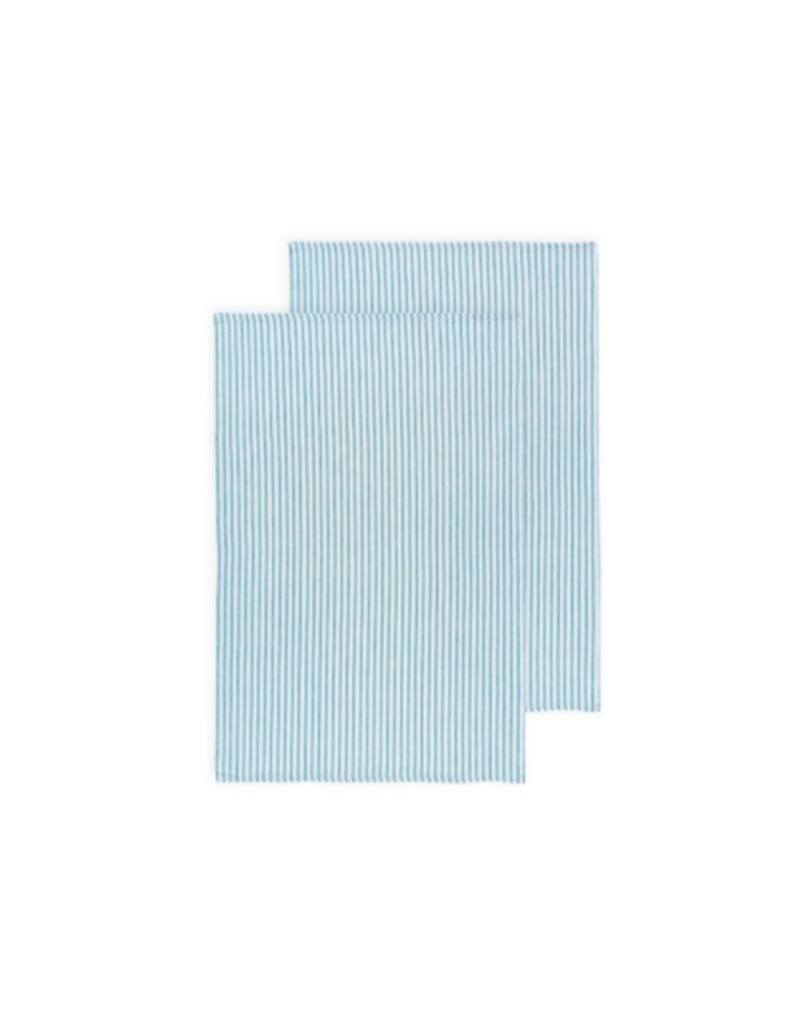 DCA - Glass Towel / Set 2, Turquoise Stripe