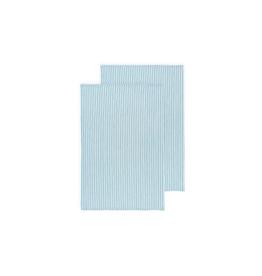 DCA - Glass Towel/Set 2, Turquoise Stripe