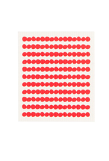 DCA - Swedish Sponge Cloth/Red Beads