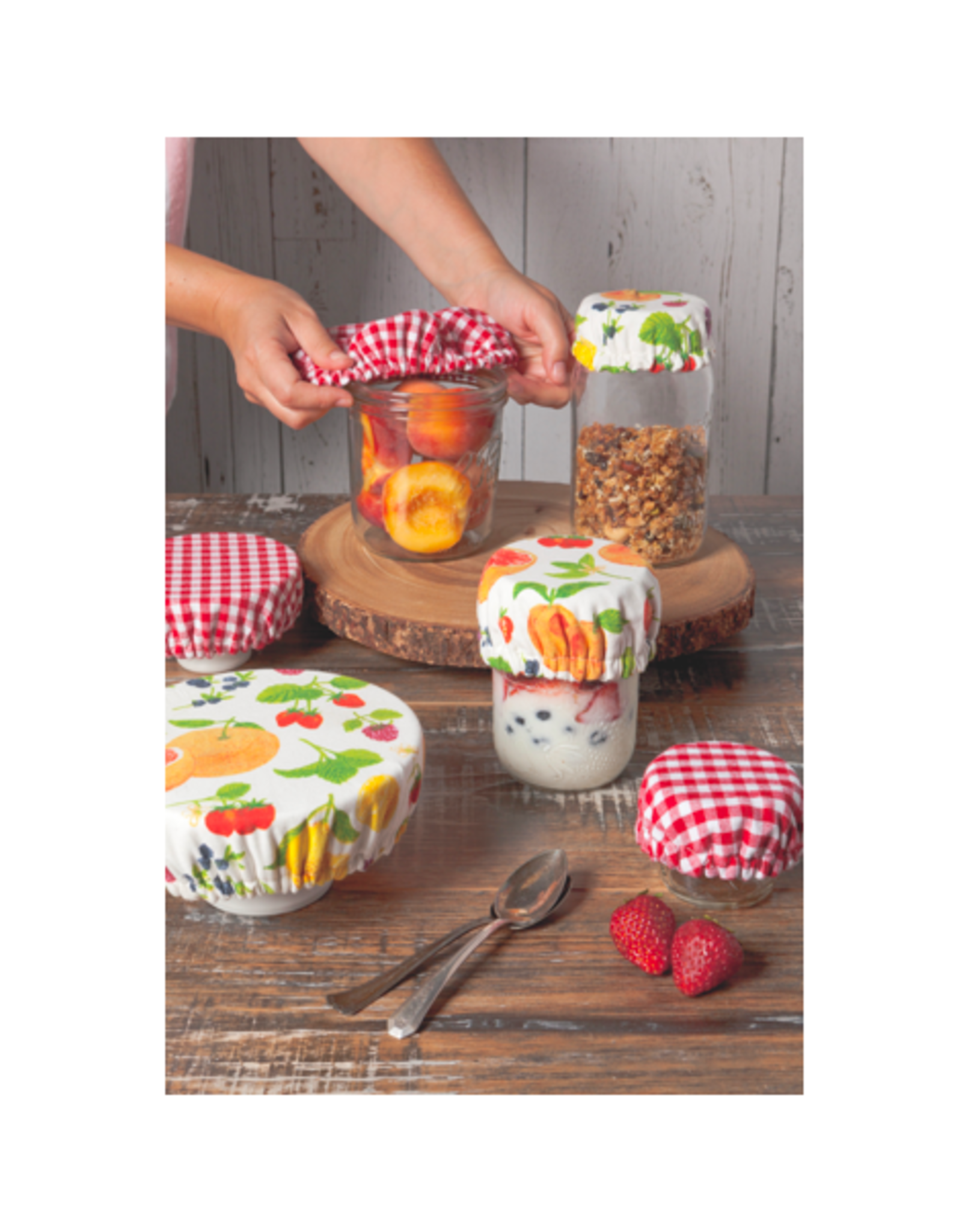 DCA - Bowl & Cup Cover/Set 3, Fruit