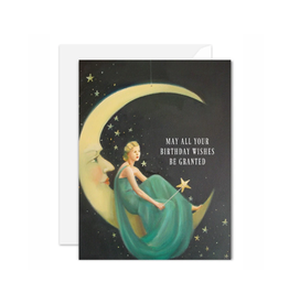 """Janet Hill - Card / May All Your Birthday Wishes Be Granted, Phoebe, 4.25 x 5.5"""""""