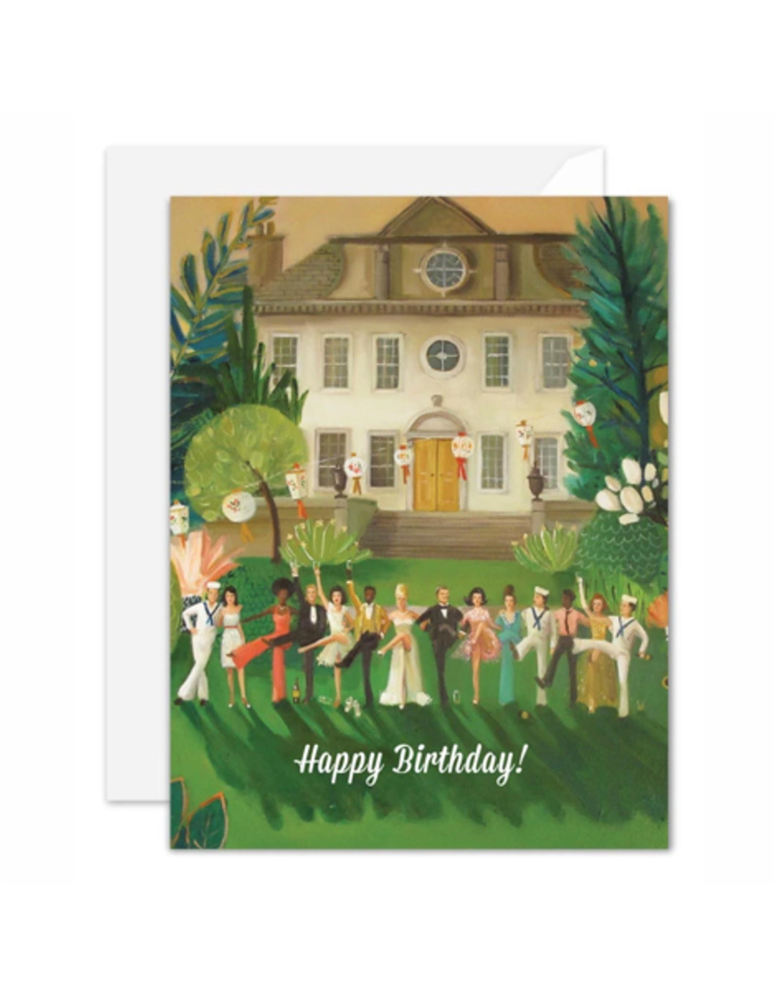 "Janet Hill - Card/Whiskey Sour High Kick, Birthday 4.25 x 5.5"""