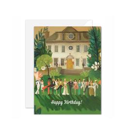 "Janet Hill - Card / Happy Birthday, Whiskey Sour High Kick, 4.25 x 5.5"""