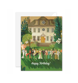 Janet Hill - Card/Whiskey Sour High Kick, Birthday 4.25 x 5.5""