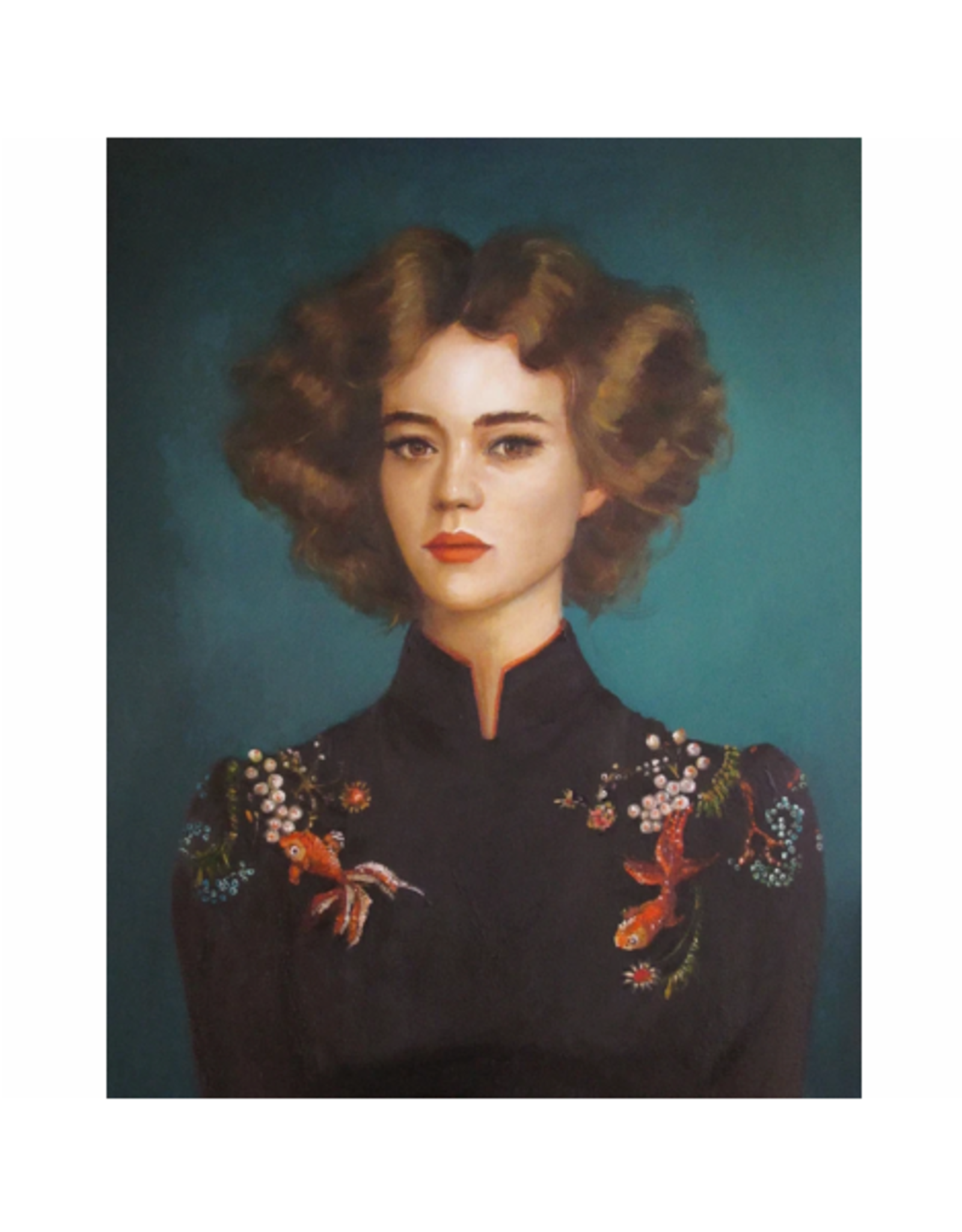 "Janet Hill - Art Print/Comet & Oranda 8.5 x 11"""