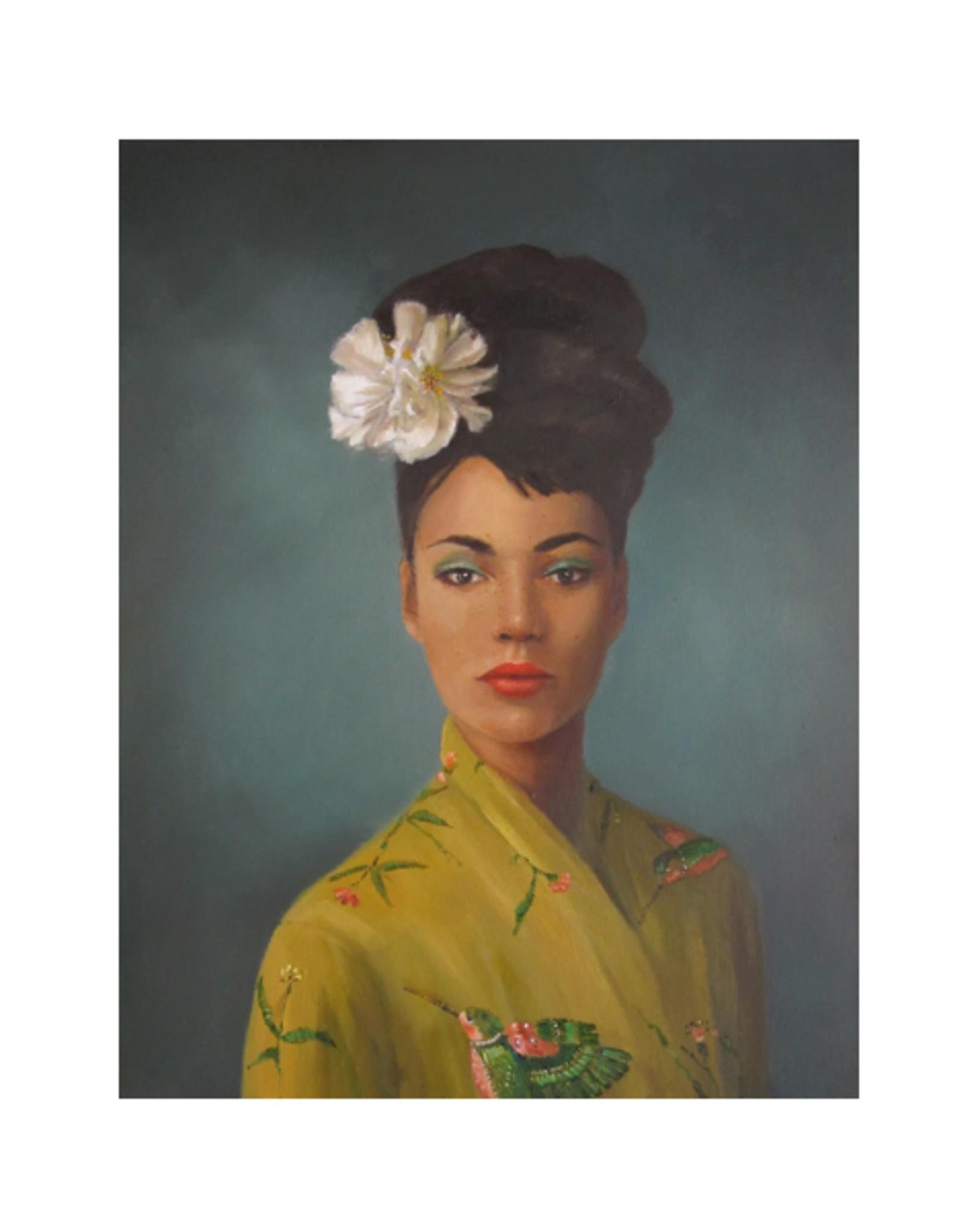 """Janet Hill - Art Print/Hummingbirds 8.5 x 11"""""""