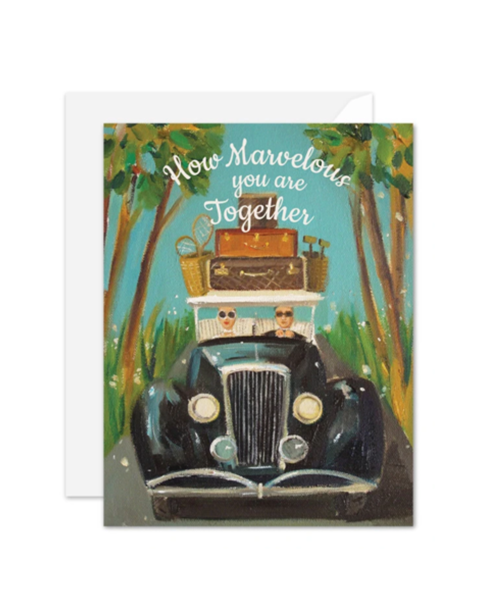"""Janet Hill - Card/How Marvelous You are Together 4.25 x 5.5"""""""