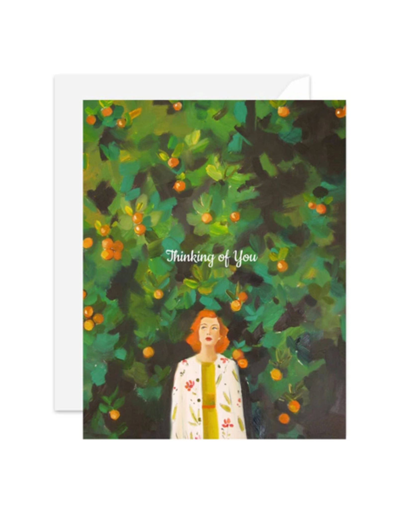 """Janet Hill - Card/Thinking of You 4.25 x 5.5"""""""