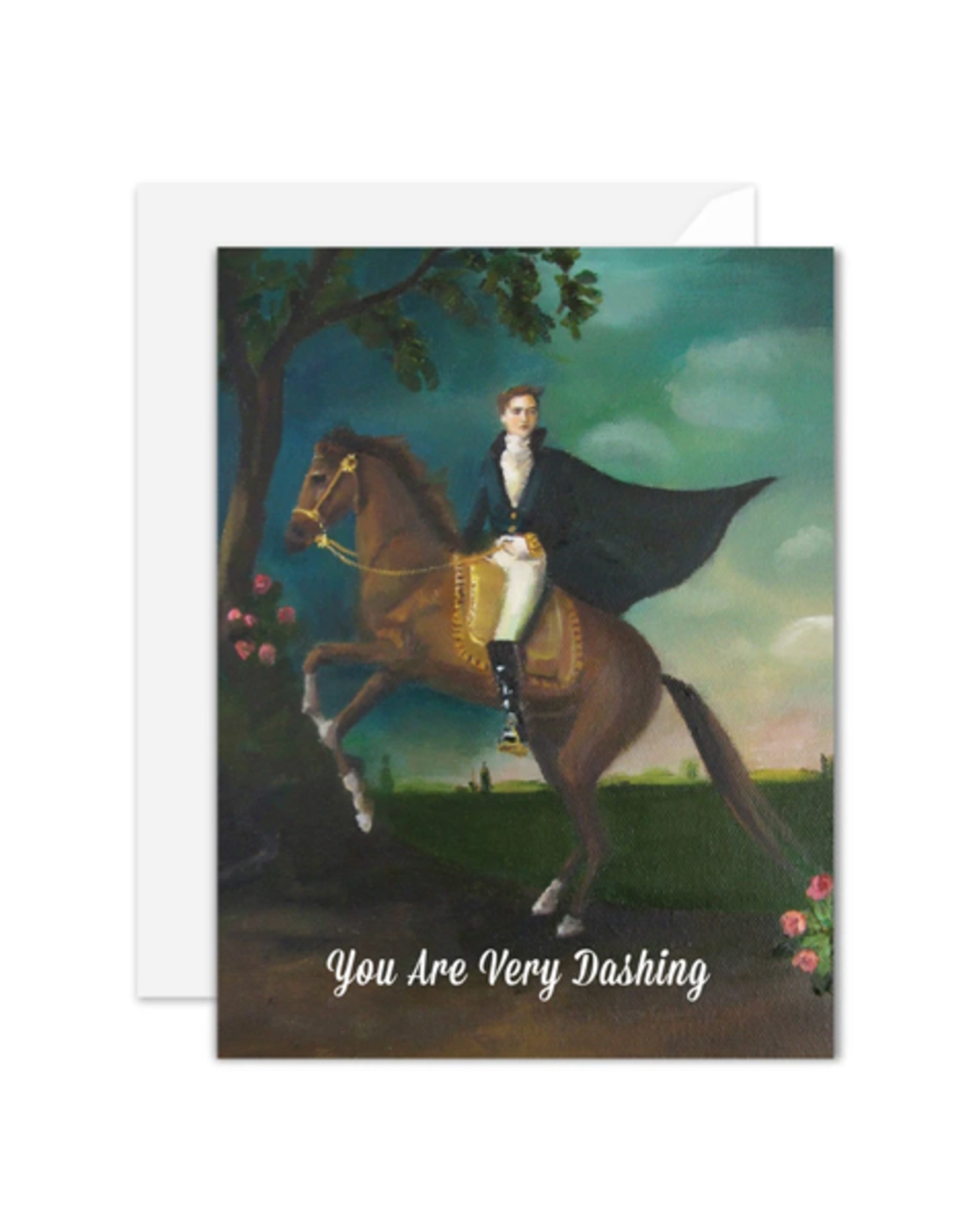 """Janet Hill - Card/You are Very Dashing 4.25 x 5.5"""""""