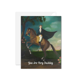 Janet Hill - Card/You are Very Dashing 4.25 x 5.5""
