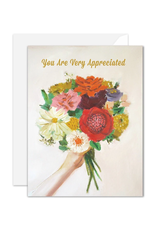 """Janet Hill - Card/You are Very Appreciated 4.25 x 5.5"""""""