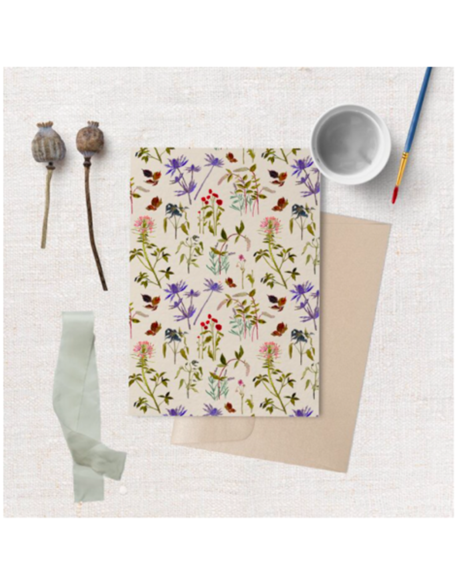"Briana Corr Scott - Card/Cottage Wallpaper, 4 x 6"""