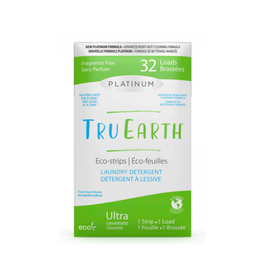 Tru Earth - Eco Laundry Detergent / 32 Strips, Platinum, Unscented