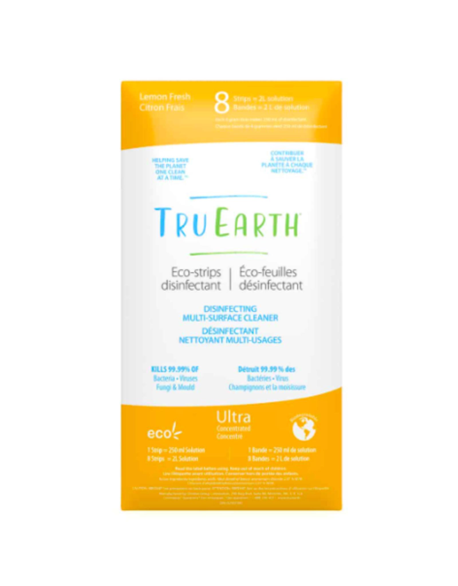Tru Earth - Eco Multi-Surface Cleaner/8 Strips, Disinfecting, Lemon Fresh