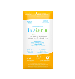 Tru Earth - Eco Multi-Surface Cleaner/8 Strips, Disinfecting, Lemon Fresh