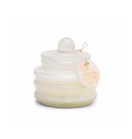 PAX - Soy Candle/Cotton & Teak, White Bubble Glass, 3oz