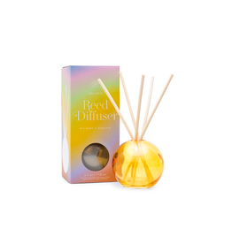 PAX - Reed Diffuser Boxed Set / Whiskey & Sequoia, Golden Bubble Glass, 4oz