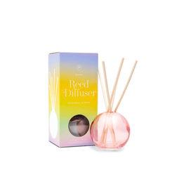 PAX - Diffuser Set/Patchouli & Pear, Pink Bubble Glass, 4oz