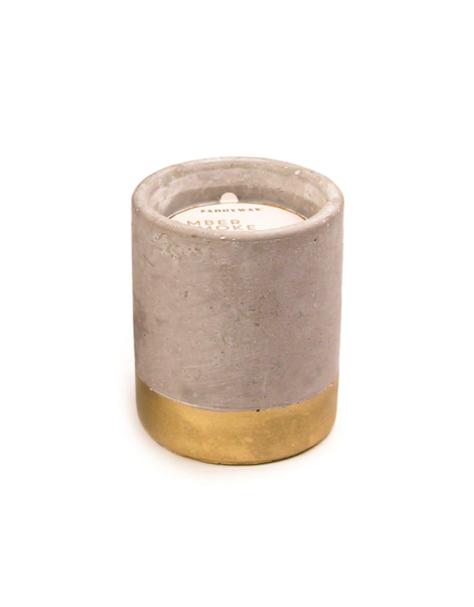 PAX - Soy Candle/Amber & Smoke, Gold Concrete, 3.5oz