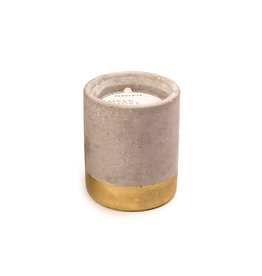 PAX - Soy Candle/Amber & Smoke, Gold Concrete, 3.5oz