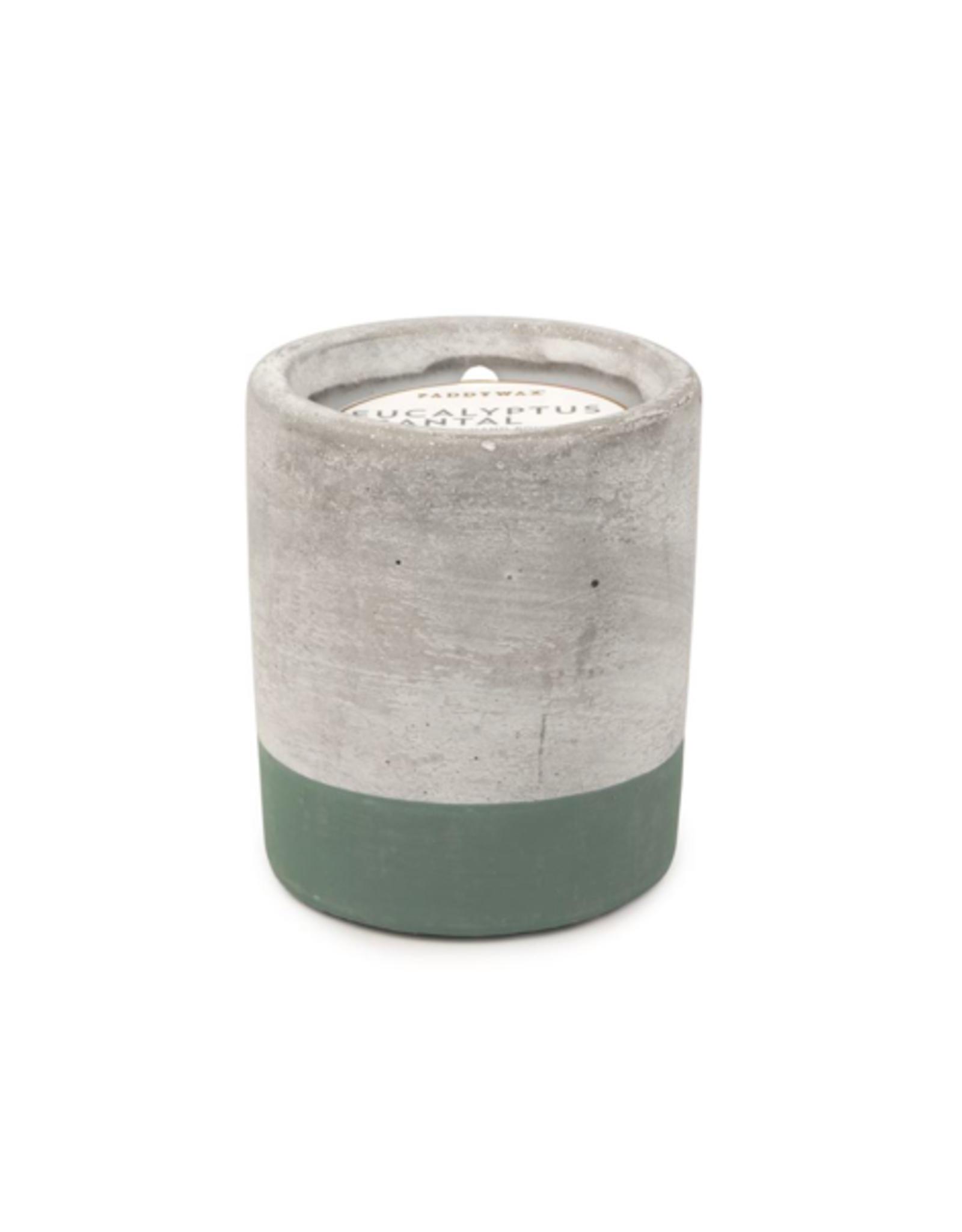 PAX - Soy Candle/Eucalyptus Santal, Green Concrete, 3.5oz