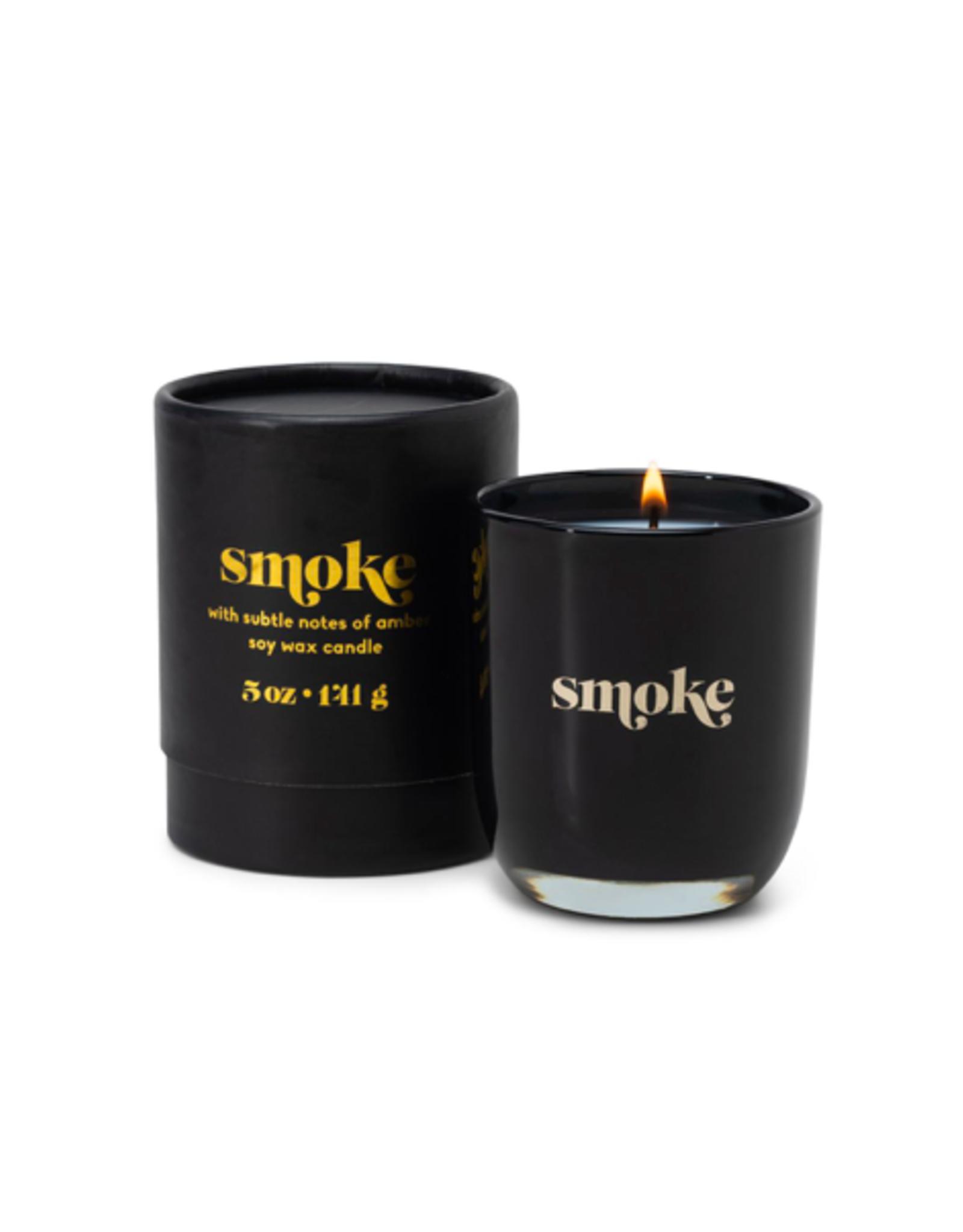 PAX - Soy Candle/Smoke, Black Glass, 5oz