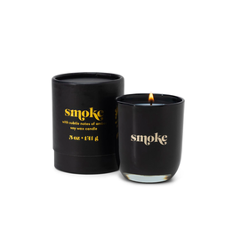 PAX - Soy Candle/Smoke, Black Glass, 5oz