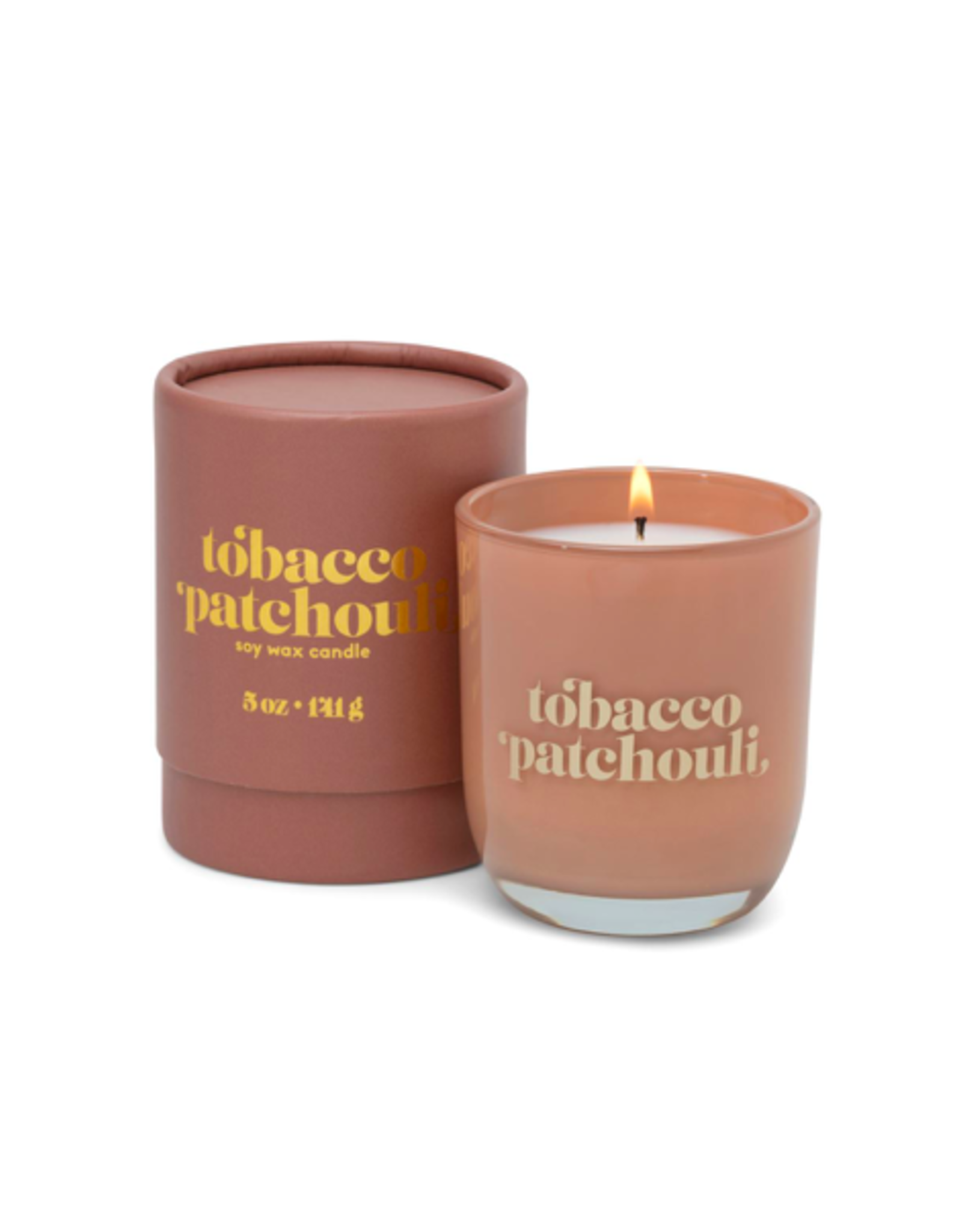 PAX - Soy Candle/Tobacco & Patchouli, Amber Glass, 5oz