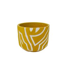 "NIA - Plant Pot/Abstract, Saffron 7"""