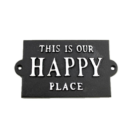 FRS - Sign/Happy Place, Cast Iron, 5.75""