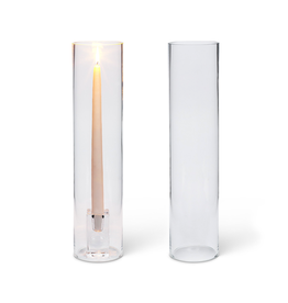 ATT - Taper Candle Holder/Cylinder, Glass, 15""