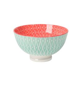 """DCA - Bowl/Aqua & Pink, 4"""""""