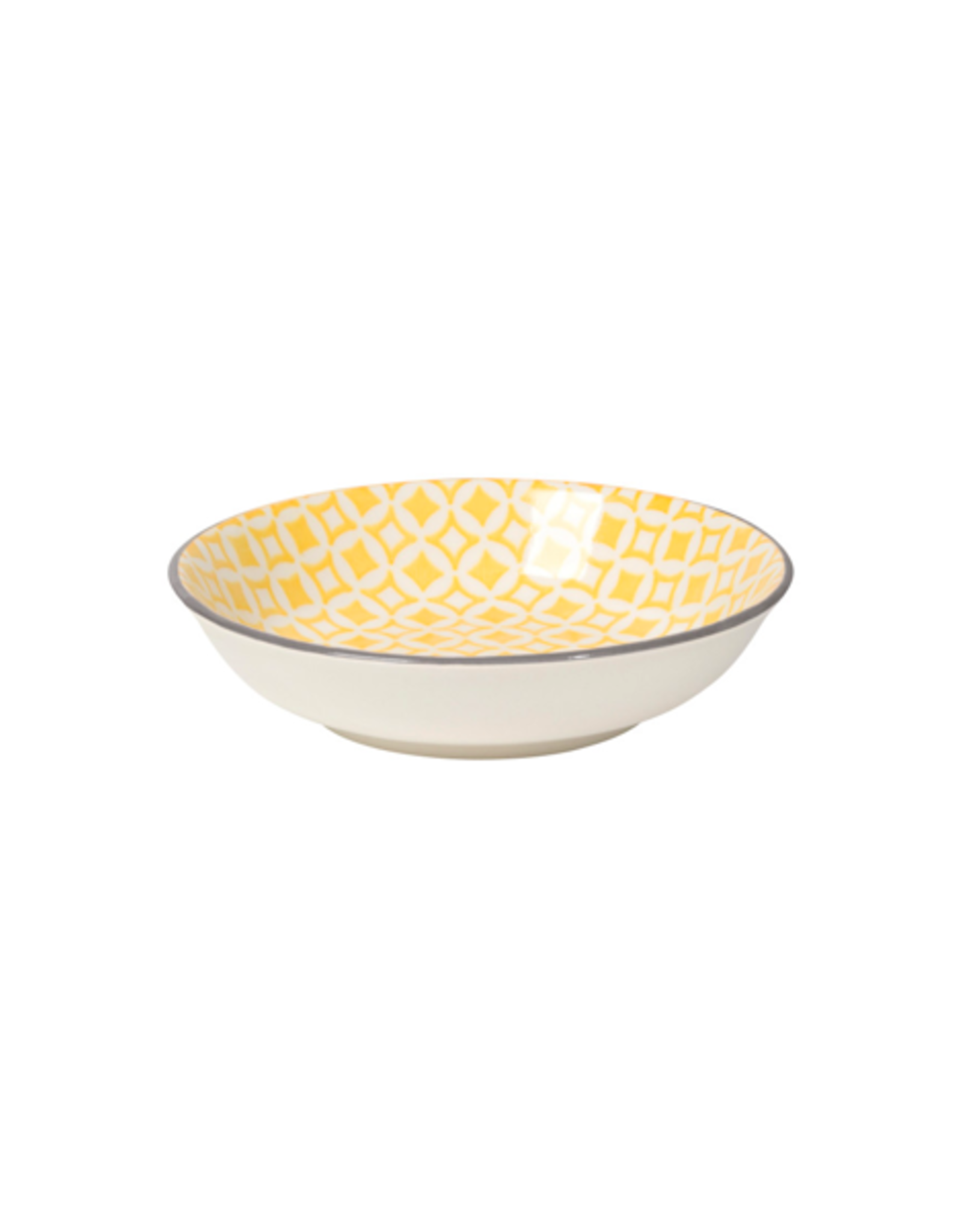 "DCA - Dip Bowl/Grey & Yellow, 3.75"""