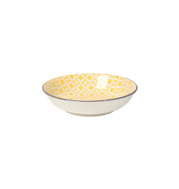 DCA - Dip Bowl/Grey & Yellow, 3.75""