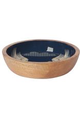 "DCA - Shallow Bowl/Mango Wood, Crane, 6.5"""