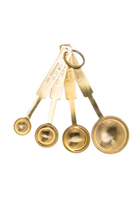 BLE - Stainless Measuring Spoons/Gold Finish, 4.5''