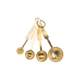 BLE - Measuring Spoons / Stainless, Gold Finish, 4.5''