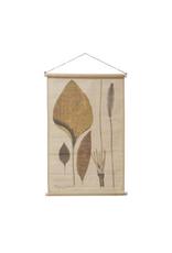 "COP - Wall Scroll / Linen, Leaves,  24 x 35"""