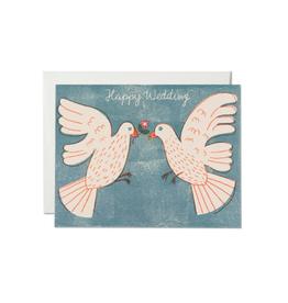 "RAP - Card / Happy Wedding, Love Birds, 4.25 x 5.5"""