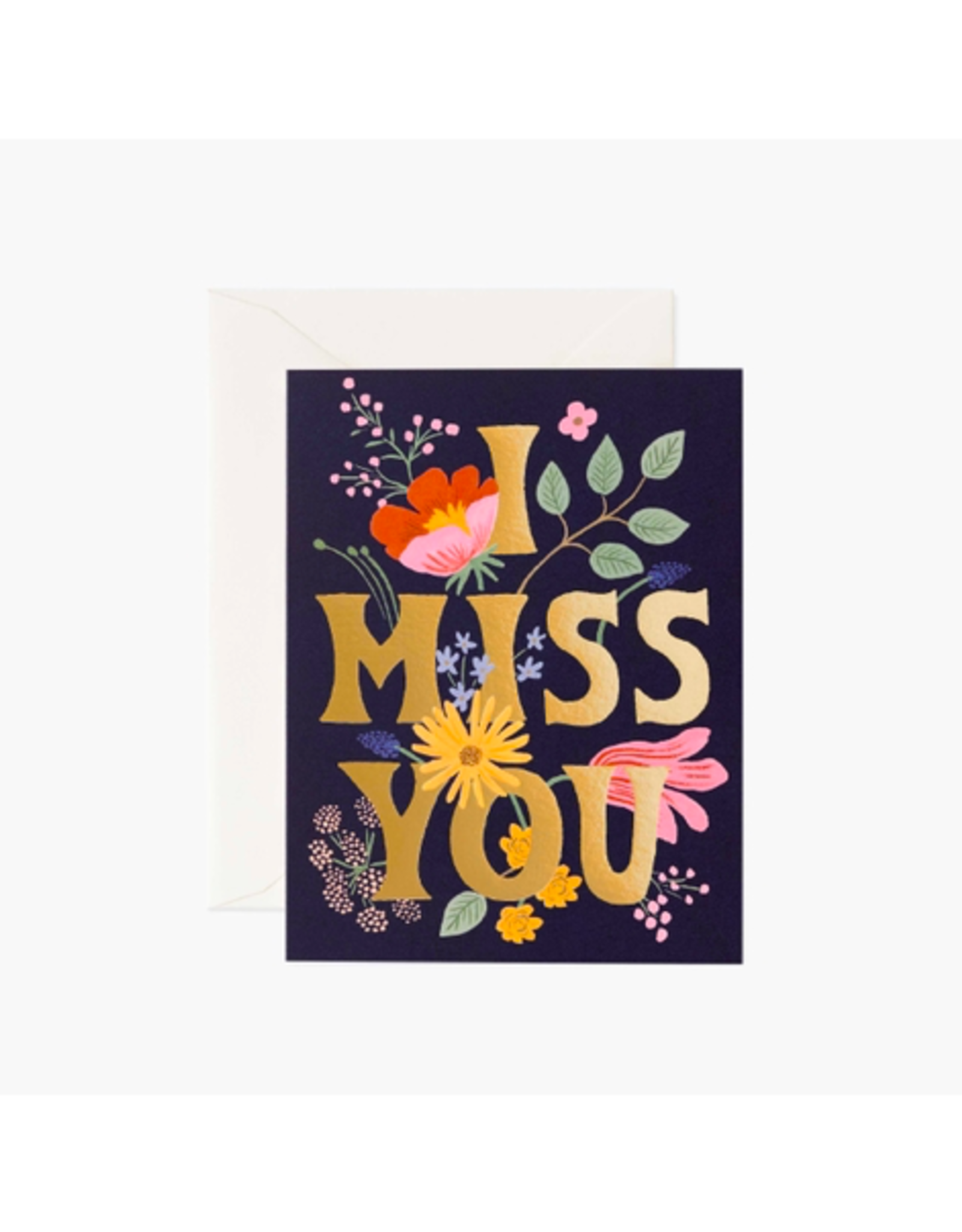 """Rifle Paper - Card / I Miss You, 4.25 x 5.5"""""""