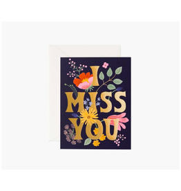 Rifle Paper - Card/I Miss You, 4.25 x 5.5""