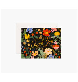 """Rifle Paper - Card / Thank You, Fields, 4.25 x 5.5"""""""