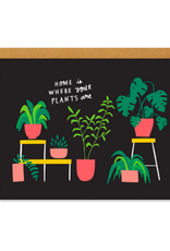 BKE - Card/Houseplants, 4.25 x 5.5""