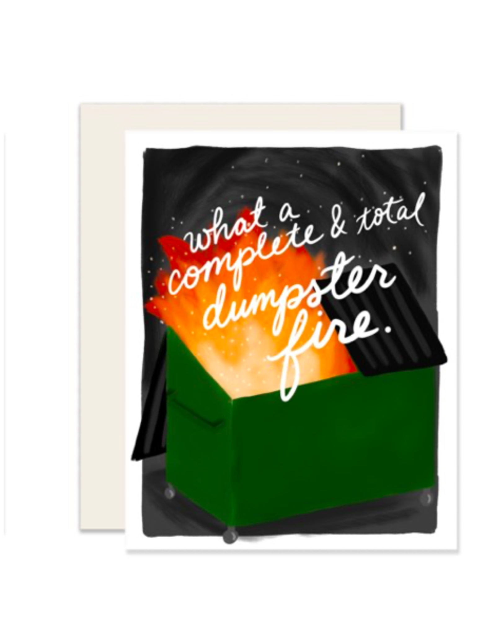 """PPS - Card/Dumpster Fire, 4.25 x 5.5"""""""