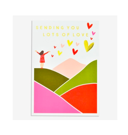 """PPS - Card / Sending You Lots of Love, 4.75 x 6.75"""""""